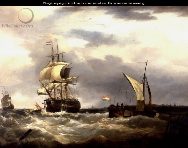 Vessels off the Dutch Coast - George Webster