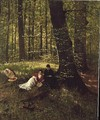 Reading in the Woods - Eduard Weichberger