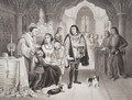 The sons of Edward IV parted from their mother by Richard Duke of Gloucester, 16th June 1483, from Illustrations of English and Scottish History Volume I - Edward Henry Wehnert