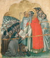 St. Bernard Tolomeo (1272-1348) giving the Rule to his Order - Simone dei Crocefissi
