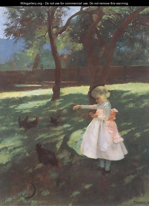 Feeding the Chickens 1895 - Karoly Ferenczy