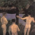 Three Nude Boys Evening sketch 1912 - Karoly Ferenczy