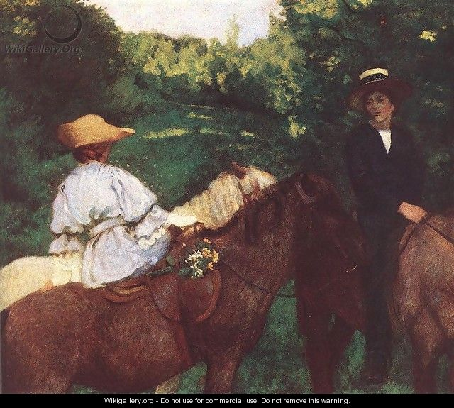 Riding Children 1905 - Karoly Ferenczy