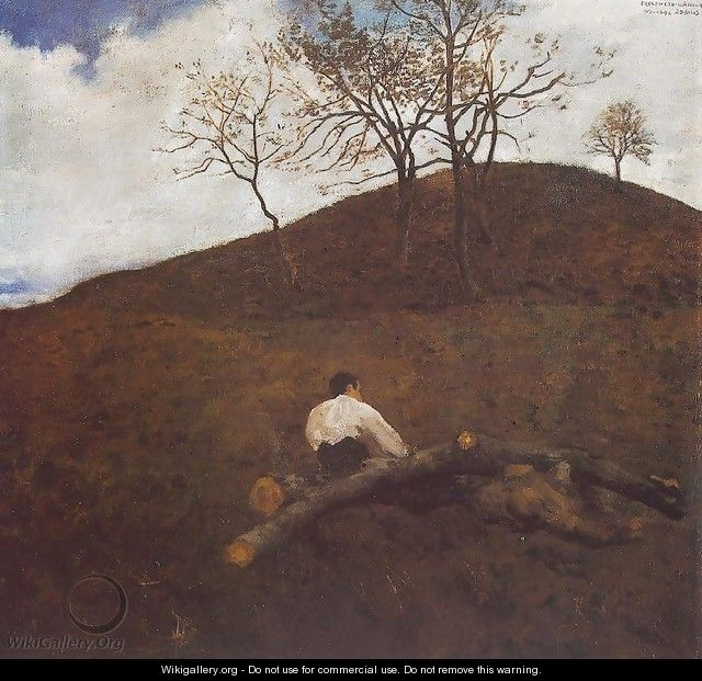 Landscape in Springtime with the Flower Hill 1898 - Karoly Ferenczy