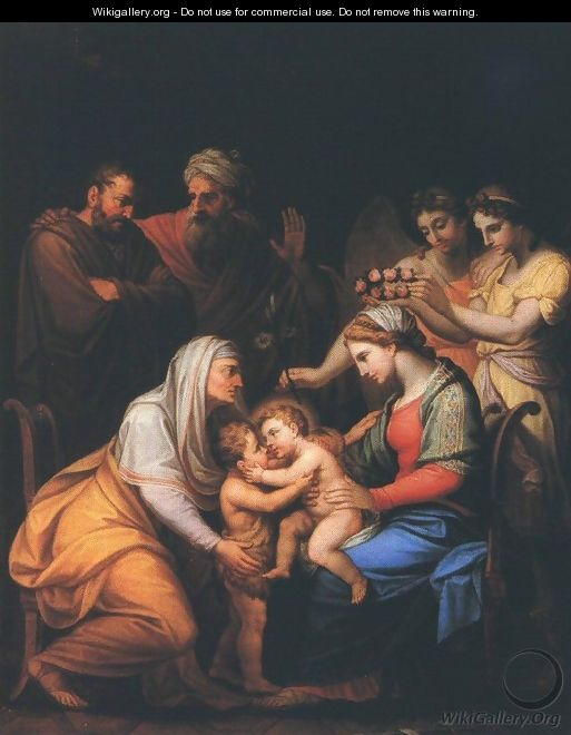 Holy Family with Saints 1813 - Janos Mihaly Hesz