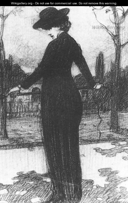 Woman with Riding Whip - Lajos Gulacsy