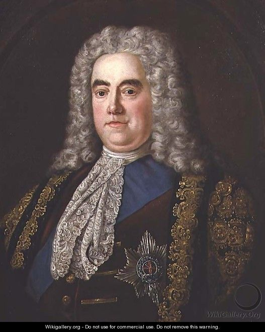 Portrait of Sir Robert Walpole, Earl of Orford 1676-1745, c.1740 - Stephen Slaughter