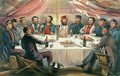 A Christmas Dinner on the Heights before Sebastopol, engraved by J.A. Vinter, pub. 1855 - William Simpson