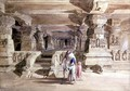 The Lanka Caves, Ellora, 1862 - William Simpson