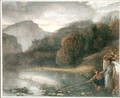 Landscape with a Temple and Pastoral Figures - James Smetham