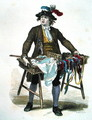 Ribbon Seller in 1774 - Burn (Cosson) Smeeton