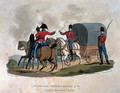 An Officer, Private, and Driver of the Royal Waggon Train, from Costumes of the Army of the British Empire, according to the last regulations 1812, engraved by J.C. Stadler, published by Colnaghi and Co. 1812-15 - Charles Hamilton Smith