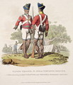 Native Troops in the East India Companys Service a Sergeant of Light Infantry and a Private of the Madras Sepoys, engraved by Joseph Constantine Stadler, 1815 - Charles Hamilton Smith