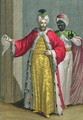 The Grand Lord, in his seraglio with the Kislar Agassi, 18th century - Philippe Simonneau