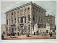 The Cafe Amitie and the Old Hotel du Prince Frederic, Brussels, after the Fighting of 23rd-26th September 1830, engraved by Jean Baptiste Madou 1796-1877 - Gustave Adolphe Simoneau