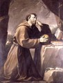 St. Francis of Assisi at Prayer - Giovanni Andrea Sirani
