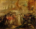 The Surrender of the Two Sons of Tipu Sahib 1749-99, Sultan of Mysore, to Sir David Baird, c.1800 - Henry Singleton