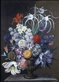 Still life of flowers - J.A. Simson