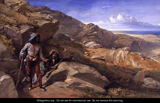 Two Bandits in the Hills, 1857 - William Simpson