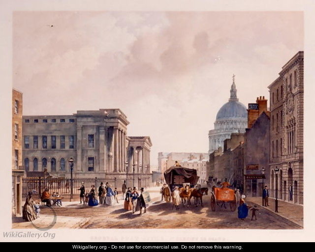 General Post Office, St. Martins le Grand, 1852 - William Simpson