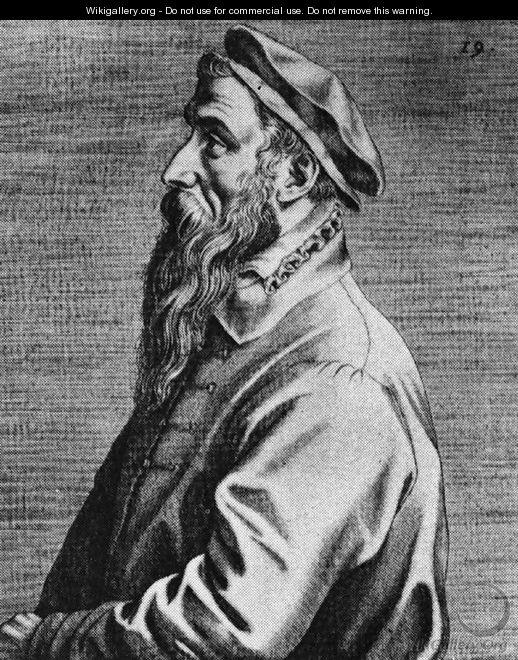 Portrait of Pieter Bruegel the Elder 1572 - Dominicus Lampsonius