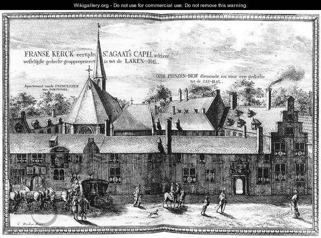 The Convent of St Agatha and Prinsenhof in Delft 1667-80 - Coenraet Decker