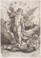 St Michael Slaying the Dragon 1584 - Hieronymus or Jerome Wierix