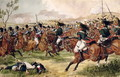 The 20th Light Dragoons at the Battle of Vimeiro, 21st August 1808 - Richard Simkin