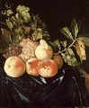 Still-Life of Peaches and Grapes 1705 - Willem Frederik van Royen
