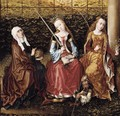 St Catherine of Alexandria with Sts Elizabeth of Hungary and Dorothy c. 1480 - Sainte Gudule Master of
