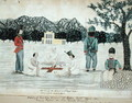 Sketch of Gurkha life at Dehra Dun, c.1821 - The Hon. Frederick Shore