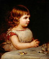 Portrait of Ethel Marion Sidley, the artists daughter, 1872 - Samuel Sidley