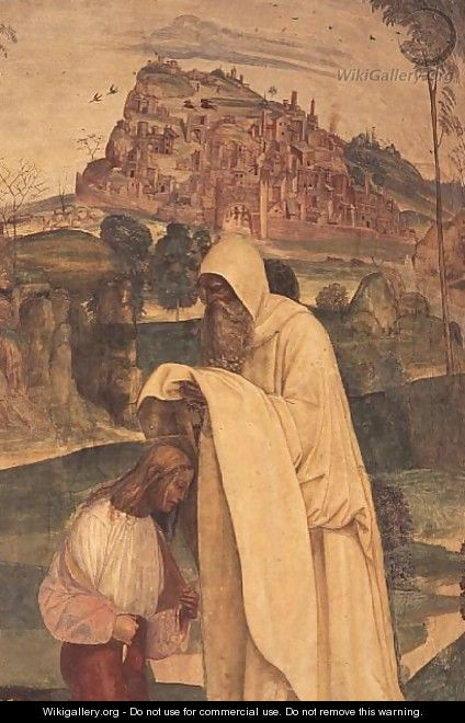 St. Benedict Blessing a Child, from the Life of St. Benedict - & Sodoma, G. (1477-1549) Signorelli, L. (c.1441-1523)