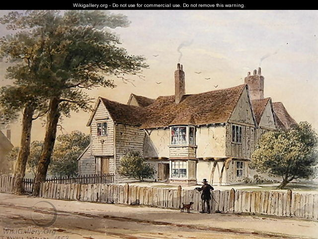 The Rectorial House, Newington Butts, 1852 - Thomas Hosmer Shepherd