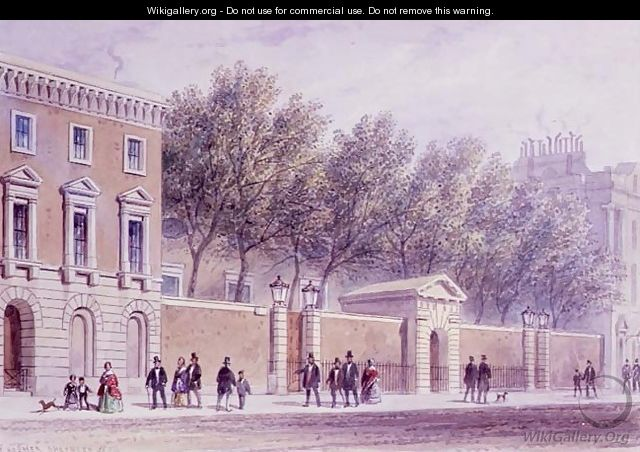 The New Entrance to Grocers Hall, Princes Street, opposite the Bank. Erected 1842 - Thomas Hosmer Shepherd