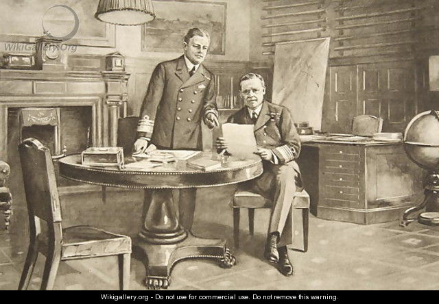 The Navys Nerve Centre Sir Eric Geddes and Sir Rosslyn Wemyss in the First Sea Lords Room - Charles Mills Sheldon