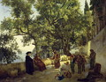 Verandah beside the Sea Shore, Cappucin Monks in the Suburbs of Sorrento, 1827 - Sylvester F. Shedrin