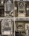 Tombs from the North Aisle, plate 59 from Westminster Abbey, engraved by Thomas Sutherland, pub. by Rudolph Ackermann 1764-1834 1812 - George Shepherd