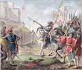 Joan of Arc 1412-31 Orders the English to Leave France, engraved by Louis Roger, 1787 - Antoine Louis Francois Sergent-Marceau