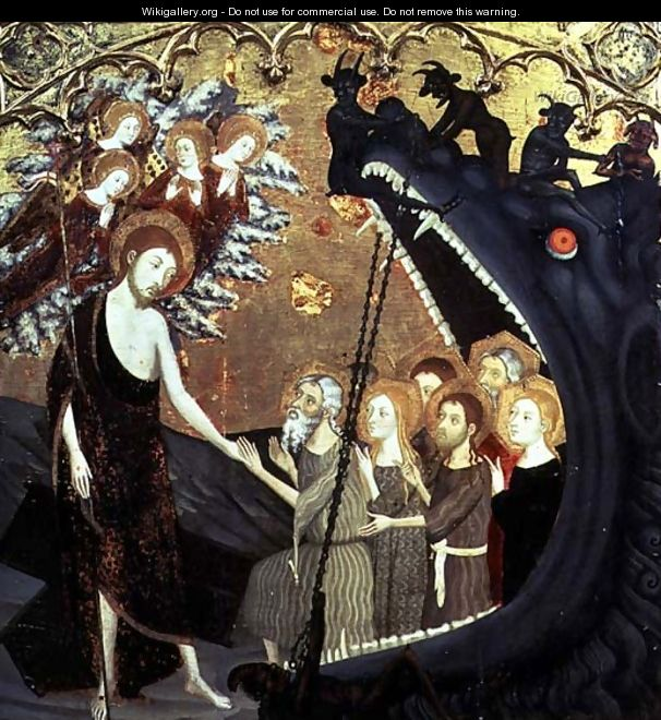 Panel of the Descent into Limbo, from the altarpiece of the convent of Santo Sepulchro, Zaragoza - Jaume Serra