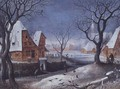 Winter Landscape with Fowlers - Adriaen van Stalbempt