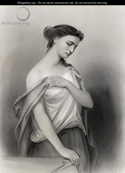 Lucretia, illustration from World Noted Women by Mary Cowden Clarke, 1858 - Pierre Gustave Eugene (Gustave) Staal