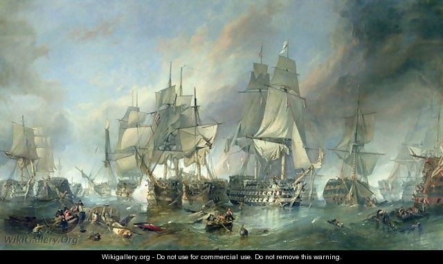 The Battle of Trafalgar, 1805 - William Clarkson Stanfield