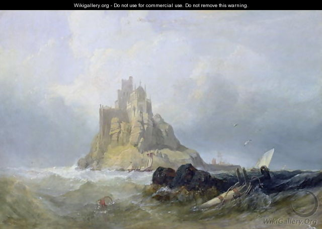 St. Michaels Mount, Cornwall - William Clarkson Stanfield