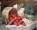 Overturned Basket with Raspberries and White Currants, 1882 - Eloise Harriet Stannard