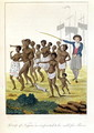 Group of negroes imported to be sold for Slaves in 1793, from Narrative of a Five Years Expedition against the Revolted Negroes of Surinam, by J.G. Stedman, 1796 - John Gabriel Stedman