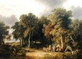 Encampment in a Wooded Landscape - James Stark