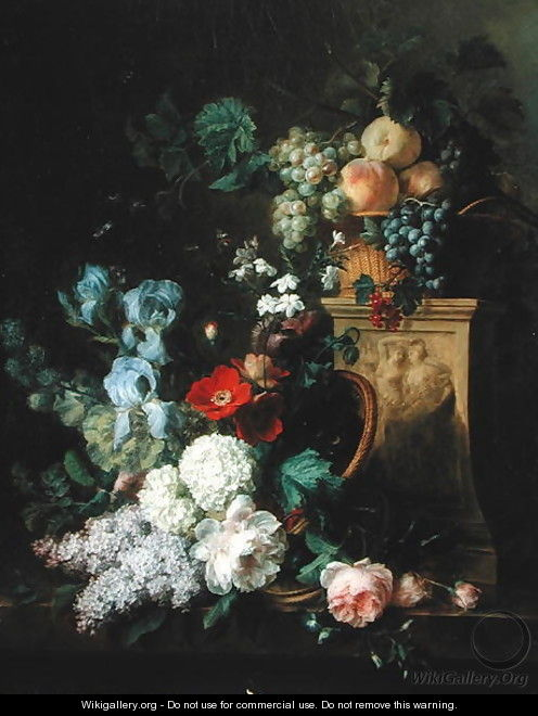 Still life with Flowers and Fruit, 1804 - Cornelis van Spaendonck