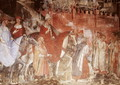 The History of Pope Alexander III 1105-81- The Entrance of the Pope and Emperor Frederick Barbarossa c.1123-90 into Rome, 1407 - Luca Spinello Aretino