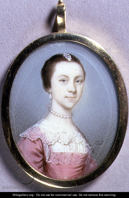 Portrait Miniature of Rachael Chumley, c.1749 - Gervase Spencer